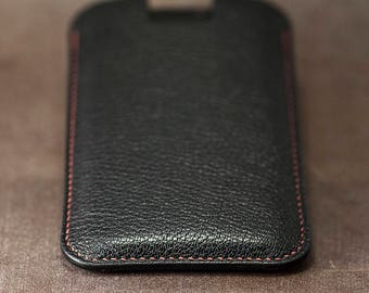 Chèvre iphone Х leather case