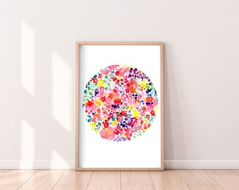 Original Art Pink Moon Original Painting Watercolor Moon Floral Spring Art Cherry Blossom Original Watercolor One of a Kind CreativeIngrid