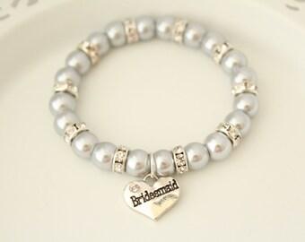 Bridesmaid Bracelet - Bridesmaid Gift - Wedding Gift - Bridesmaid Jewelry - Bridesmaid Gift Bracelet - Bridesmaid Gift Ideas -Bridesmaid Set