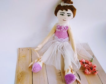 Personalized Dance Recital Doll, Ballerina Doll, Toddler Girl Gift, Dance Recital Gift for Girls, Ballerina Toy, Ballerina Birthday Gift,