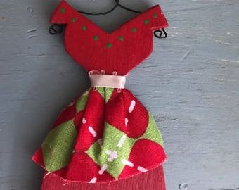 Vintage Dress with Apron Ornament
