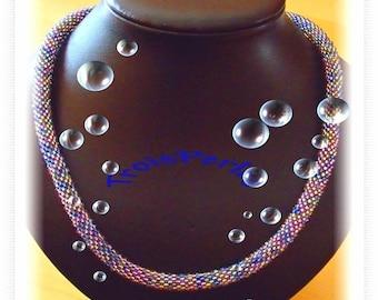 114 - Beaded Crochet Necklace - Kette - Perlenkette - Häkelkette