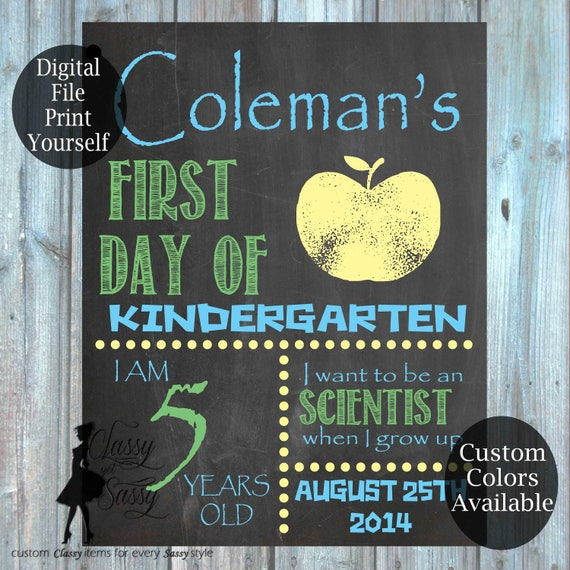 First Day Of School Chalkboard Sign 170