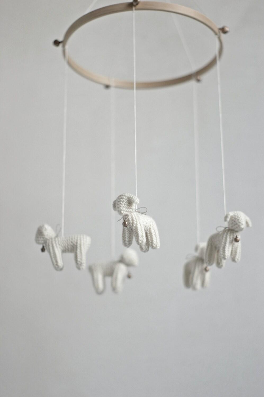 Nursery mobile baby mobile lamb mobile sheep mobile zoom arubaitofo Gallery