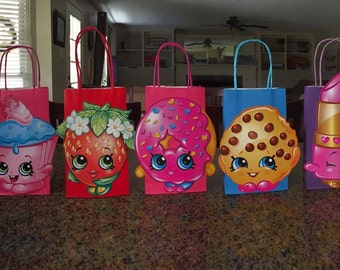 Shopkins Party Bags, Shopkins Goody Bags, Shopkins Birthday, Shopkins Party,Set of 8, lots of colors to choose from,READY TO SHIP!