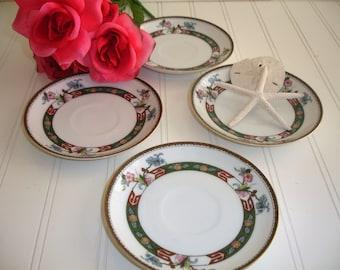 Vintage Noritake China Saucers Set of 4 Rosewood Mix and Match Shabby Cottage & Rosewood plates | Etsy