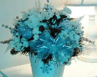 White Snowflake Holiday Arrangement