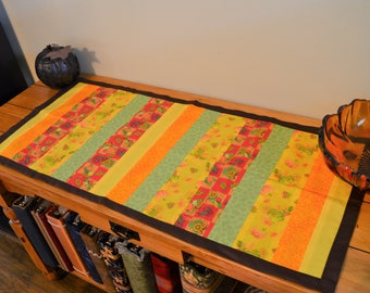 Stripped Fall Table Runner