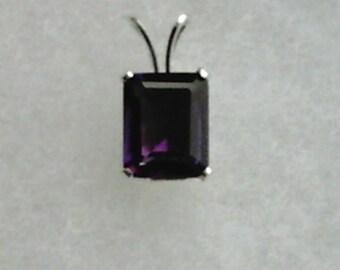 Purple Amethyst Gemstone in 925 Sterling Silver Pendant February Birthstone