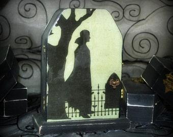 Halloween Decoration - Count Vlad  -  Handcrafted Gift box - Dark Home Decor - Goth