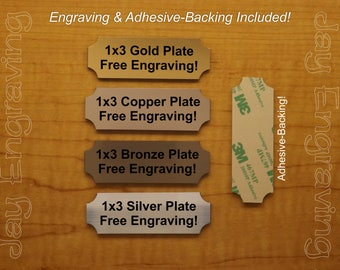 Custom Engraved 1x3 Plaque Suite Sign | Wall Door Placard Badge | Adhesive Backing | Customized Personalized | Brushed Metal Finish