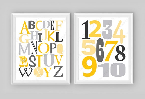 Alphabet Wall Art Print Kids ABC Poster ABC Letters