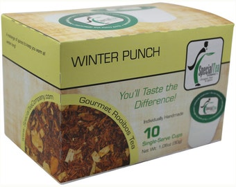 Winter Punch, Rooibos Tea, Single Serve Cups (Pack of 10)