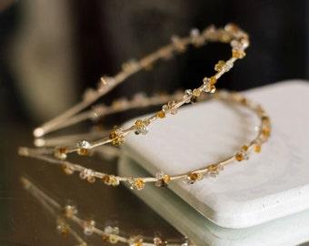 Swarovski headband, Double headband rhinestone halo, jewelled alice band,  bridal double headband, swarovski hair accessory, crystal halo
