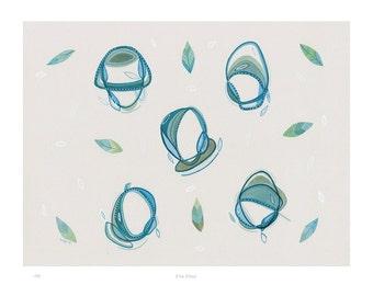 Five Float - A4 Fine Art Print