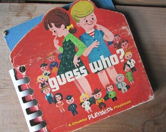 Guess Who Playskool Chubby Playbook Children's Board Book