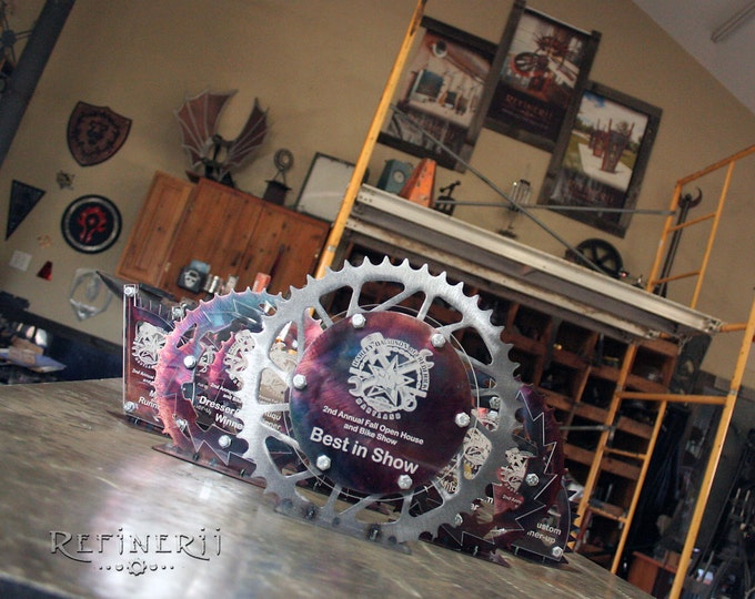Motorcylcle Sprocket Trophy Award made from Metal