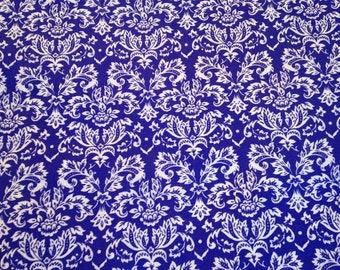 Purple damask fabric by the yard - petite damask - purple and white fabric - purple and white damask - #15206