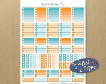 Checklists - January Planner Sticker Kit for Erin Condren Vertical Layout.