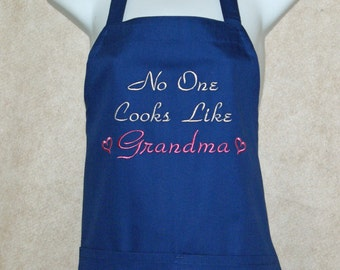 Grandma Apron, No One Cooks Like, Nana, Mom, Grandpa, Mima, Mammy, Personalized With Name, No Shipping Fees, Ready To SHIP TODAY, AGFT 761