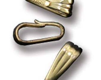 Gold Filled Clip On Bail - 2.5mm Opening (Pkg of 10) (910F-12)