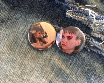 corinne burns, ladies and gentlemen, the fabulous stains, diane lane, punk rock pin,  one inch pin back button