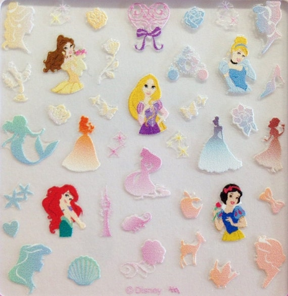 Disney / Disney Princess / Nail Art Decals / Nail Art Decal Sticker ...