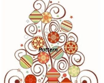 Christmas Tree. Cross Stitch Pattern. PDF Files.