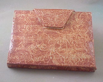 Tooled Leather Clutch Ceramic Reproduction