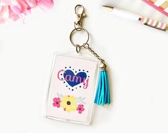Key chain | keychain | keychain personalized | tassel keychain | key chain monogram | keychain charm | keychain for bookbag
