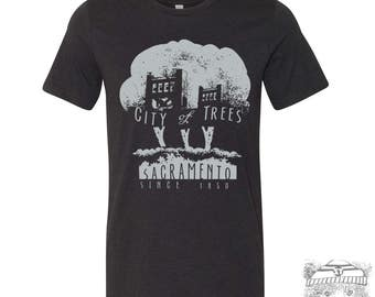 Mens CITY of TREES T Shirt s m l xl xxl (+ Color Options) hand screen printed custom