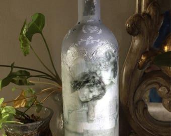 Decorated bottle Angel-grey 1
