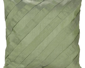 Solid Light Green Pillow Cover Pleated Textured Solid Light Green Euro Sham Throw 14x14 16x16 18x18 20x20 22x22 24x24 26x26