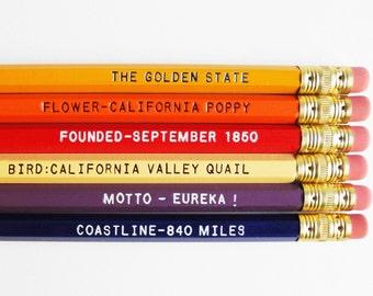 Ensemble de crayon de la Californie