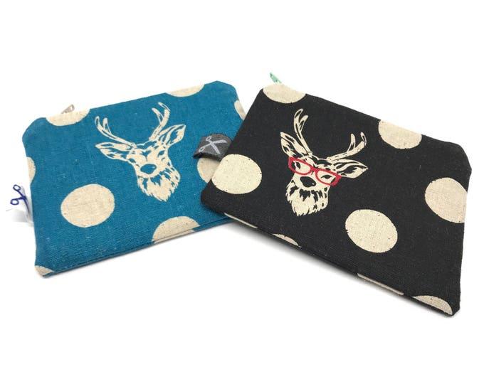 Mini zipper pouch Deer