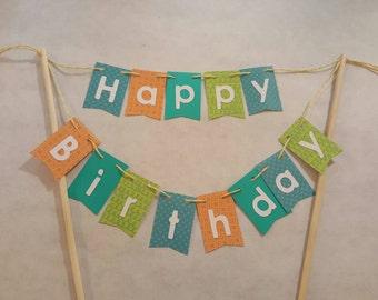 "Cake Bunting, ""Boys of Summer"", Happy Birthday, Cake Topper, Cake Banner"