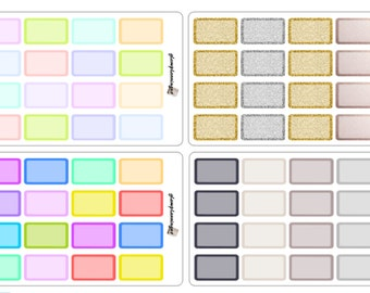 Half Boxes - planner stickers