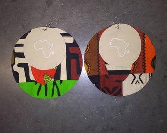 Glow in the dark Africa earrings