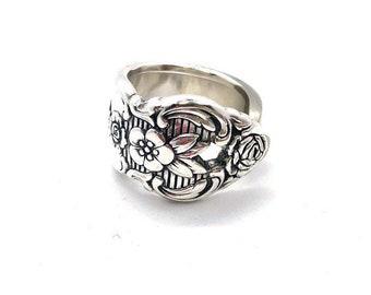 Vintage spoon ring, silverware jewelry