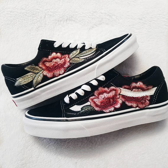 vans old skool flowers