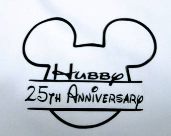 Iron on transfers for Magical Vacations, Iron on Decal, Heat Transfer, Iron on Vinyl, DIY Iron on  Shirts,Hubby Wifey Anniversary