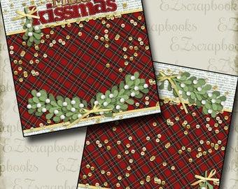 Merry KISSMAS- NPM - 2 Premade Scrapbook Pages - EZ Layout 2519