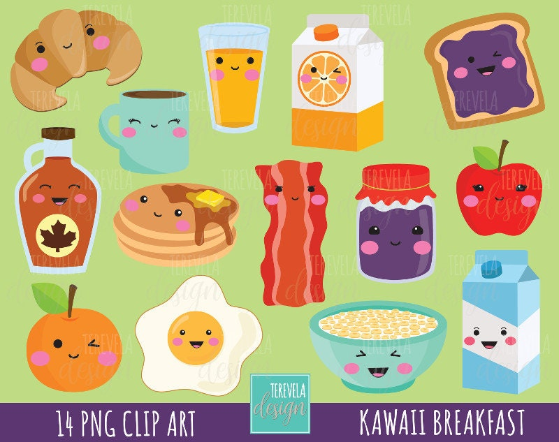 50% SALE Breakfast clipart food clipart breakfast graphics