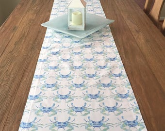 Blue Crab Table Runner, Home & Living Yellow, Lime Green and Turquoise Table Decorations!