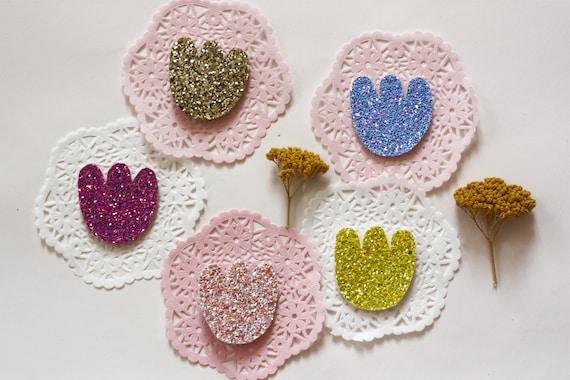 Maxi - Tulip - Aurora brooch - Handmade - soft Cactus