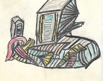Building colorful sketch