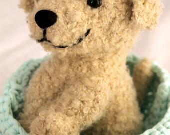 Crochet Dog Pattern, Puppy Amigurumi Crochet Pattern, Plush Bear Crochet Pattern, Cute Puppy Crochet Pattern, Seamless Amigurumi Crochet