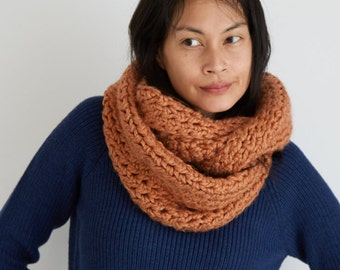 Oversized Circle Scarf in Harvest