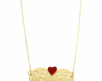 Emoji Necklace, Couple Kissing Emoji