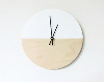 Wall Clock, Natural Wood Clocks, Trending Dipped Wall Art, Wall Hangings, Home Decor